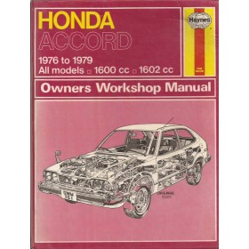 Honda Accord Owners workshop manual J. Haynes  Benzine Haynes UK 76-79 met gebruikssporen   Engels