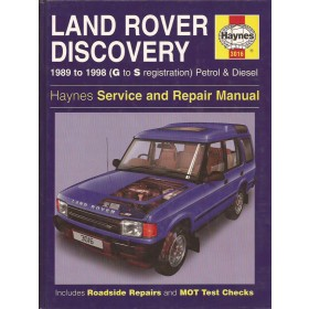 Land Rover Discovery Owners workshop manual J. Haynes  Benzine Haynes UK 89-98 ongebruikt   Engels
