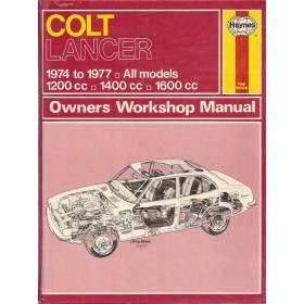 Mitsubishi Colt/Lancer Owners workshop manual J. Haynes  Benzine Haynes UK 74-77 met gebruikssporen   Engels