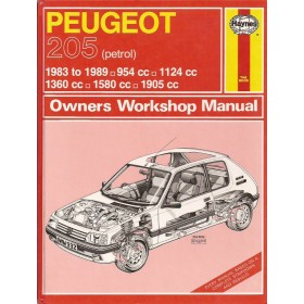 Peugeot 205 Owners workshop manual P.H. P. Olving  Benzine Kluwer 83-89 ongebruikt   Engels