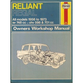 Reliant Regal Owners workshop manual J. Haynes  Benzine Haynes UK 56-73 met gebruikssporen   Engels