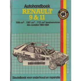 Renault 9/11 Autohandboek P.H. P. Olving  Benzine Kluwer 82-84 met gebruikssporen ex-bibliotheek  Nederlands