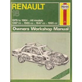 Renault 18 Owners workshop manual J. Haynes  Benzine Haynes UK 79-84 met gebruikssporen   Engels