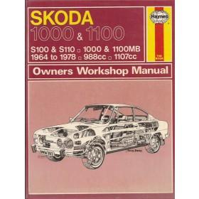 Skoda 1000/1100 Owners workshop manual J. Haynes  Benzine Haynes UK 64-78 met gebruikssporen   Engels