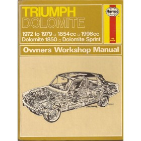Triumph Dolomite Owners workshop manual J. Haynes 1850/Sprint Benzine Haynes UK 72-79 met gebruikssporen   Engels