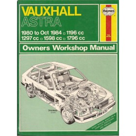 Vauxhall Astra Owners workshop manual J. Haynes  Benzine Haynes UK 80-84 met gebruikssporen   Engels