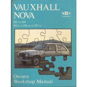 Vauxhall Nova Owners workshop manual J. Haynes  Benzine Haynes UK 83-86 met gebruikssporen   Engels