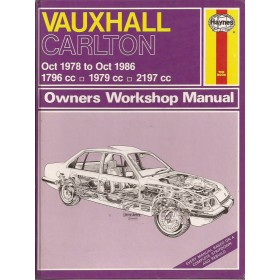 Vauxhall Carlton Owners workshop manual J. Haynes  Benzine Haynes UK 78-86 met gebruikssporen   Engels