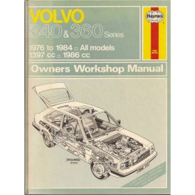 Volvo 340/360 Owners workshop manual J. Haynes  Benzine Haynes UK 1976-1984 met gebruikssporen Engels