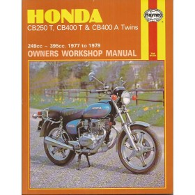 BMW CB250T/CB400T/CB400A Twins Owners workshop manual J. Haynes Benzine Haynes UK 77-79 met gebruikssporen Engels