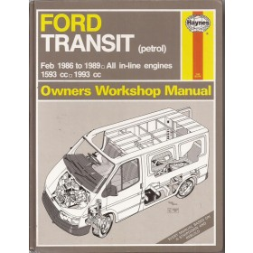 Ford Transit Owners workshop manual J. Haynes  Benzine Haynes UK 1986-1989 met gebruikssporen Engels