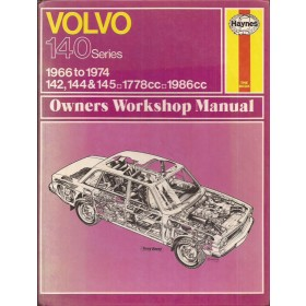 Volvo 140-series Owners workshop manual J. Haynes  Benzine Haynes UK 66-74 met gebruikssporen   Engels