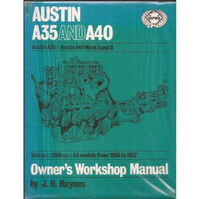 Austin A35 A40 Mini Owners workshop manual J. Haynes Benzine Haynes UK 1956-1967 met gebruikssporen Engels