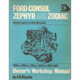 Ford Consul Zephyr Zodiac Owners handbook manual J. Haynes Benzine Haynes UK 1951-1966 met gebruikssporen Engels