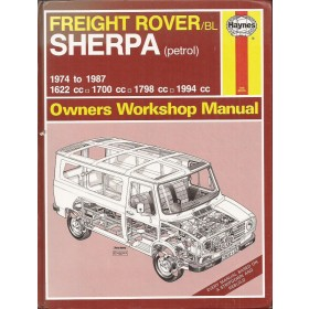 Austin Sherpa Freight Rover Owners workshop manual J. Haynes  Benzine Haynes UK 1974-1987 met gebruikssporen   Engels