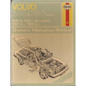 Volvo 340/360 Owners workshop manual J. Haynes  Benzine Haynes UK 1976-1985 met gebruikssporen Engels