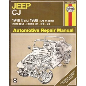 Jeep CJ Owners workshop manual J. Haynes Benzine Haynes UK 1949-1986 met gebruikssporen Engels 1949 1950 1951 1952 1953 1954 1955 1956 1957 1958 1959 1960 1961 1962 1963 1964 1965 1966 1967 1968 1969 1970 1971 1972 1973 1974 1975 1976 1977 1978 1979 1980