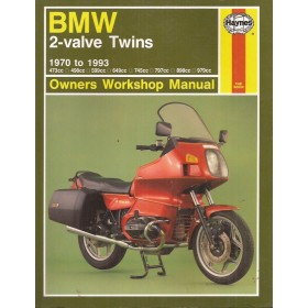 BMW 2-valve Twins Owners Workshop Manual J. Haynes 473cc/498cc/599cc/649cc/745cc/797cc/898cc/979cc Benzine Haynes UK 1970-1993 ongebruikt Engels