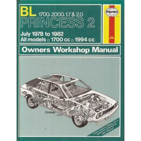 Princess 1700/2000 Owners workshop manual J. Haynes  Benzine Haynes UK 1978-1982 ongebruikt Engels 1978 1979 1980 1981 1982