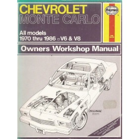 Chevrolet Monte Carlo Owners workshop manual J. Haynes Benzine Haynes US 1970-1986 met gebruikssporen Engels 1970 1971 1972 1973 1974 1975 1976 1977 1978 1979 1980 1981 1982 1983 1984 1985 1986