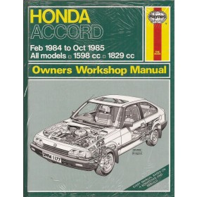 Honda Accord Owners workshop manual J. Haynes Benzine Haynes UK 1984-1985 nieuw in folie Engels 1984 1985