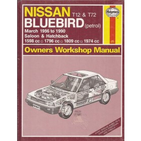 Nissan Bluebird Owners workshop manual J. Haynes model T12 T72 Benzine Haynes UK 1986-1990 nieuw in folie Engels 1986 1987 1988 1989 1990