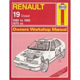 Renault 19 Owners workshop manual J. Haynes Diesel Haynes UK 1989-1995 ongebruikt Engels 1989 1990 1991 1992 1993 1994 1995