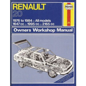 Renault 20 Owners workshop manual J. Haynes Benzine Haynes UK 1976-1984 ongebruikt Engels 1976 1977 1978 1979 1980 1981 1982 1983 1984