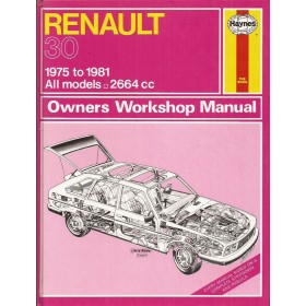 Renault 30 Owners workshop manual J. Haynes Benzine Haynes UK 1975-1981 ongebruikt Engels 1975 1976 1977 1978 1979 1980 1981