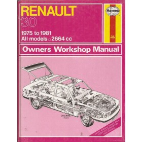 Renault 30 Owners workshop manual J. Haynes Benzine Haynes UK 1975-1981 nieuw in folie Engels 1975 1976 1977 1978 1979 1980 1981