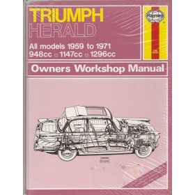 Triumph Herald Owners workshop manual J. Haynes Benzine Haynes UK 1959-1971 nieuw in folie Engels 1959 1960 1961 1962 1963 1964 1965 1966 1967 1968 1969 1970 1971