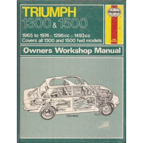 Triumph 1300/1500 Owners workshop manual J. Haynes Benzine Haynes UK 1965-1974 nieuw in folie Engels 1965 1966 1967 1968 1969 1970 1971 1972 1973 1974
