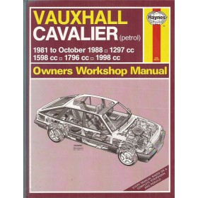 Vauxhall Cavalier Owners workshop manual J. Haynes Benzine Haynes UK 1981-1988 met gebruikssporen Engels 1981 1982 1983 1984 1985 1986 1987 1988