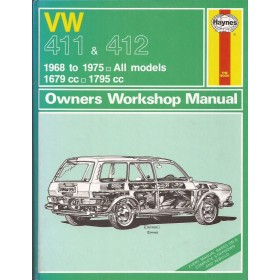 Volkswagen 411 412 Owners workshop manual J. Haynes Benzine Haynes UK 1968-1975 ongebruikt Engels 1968 1969 1970 1971 1972 1973 1974 1975
