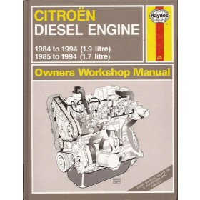 Citroen diesel motoren 1.7 / 1.9 Owners workshop manual J. Haynes diesel Haynes UK 1984-1994 nieuw Engels 1984 1985 1986 1987 1988 1989 1990 1991 1992 1993 1994