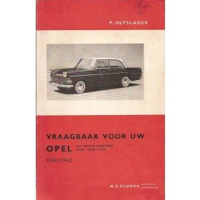 Opel Rekord/Olympia Vraagbaak P. Olyslager  Benzine Kluwer 53-62 ongebruikt   Nederlands