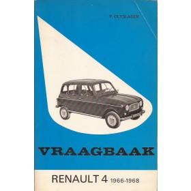 Renault 4 Vraagbaak P. Olyslager  Benzine Kluwer 66-68 ongebruikt   Nederlands