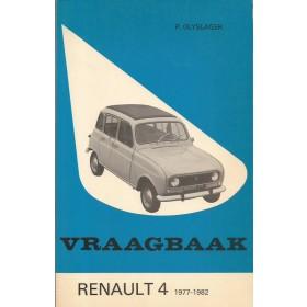 Renault 4 Vraagbaak P. Olyslager  Benzine Kluwer 77-82 ongebruikt   Nederlands