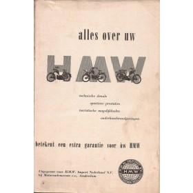 HMW Alle modellen Alles over uw motor   Benzine  ca. 55 met gebruikssporen kaft ontbreekt  Nederlands