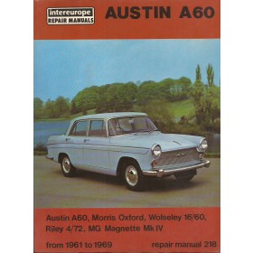 Austin/Morris/Riley/Wolseley/MG A60/Oxford/16-60/4-72/Magnette Mk4 Intereurope Repair Manuals   Benzine Intereurope 61-69 ongebruikt   Engels