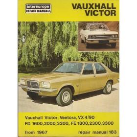 Vauxhall Victor/Ventora/VX 4-90/FD1600/FD2000/FD3300/FE1800/FE2300/FE3300 Intereurope Repair Manuals   Benzine Intereurope 67-72 ongebruikt   Engels
