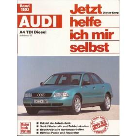 Audi A4 Jetzt helfe ich mir selbst D. Korp Type B5 Diesel Motorbuch Verlag 95-97 met gebruikssporen   Duits