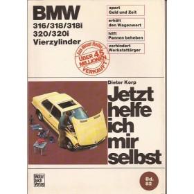 BMW 316/316i/318/318i/320/320i Jetzt helfe ich mir selbst D. Korp Type E21 Benzine Motorbuch Verlag 75-81 met gebruikssporen   Duits