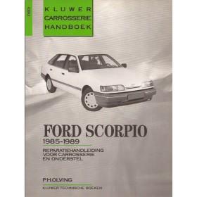 Ford Scorpio Kluwer carrosserie boek P. Olving  Benzine/Diesel Kluwer 85-89 met gebruikssporen   Nederlands