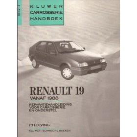 Renault 19 Kluwer carrosserie boek P. Olving  Benzine/Diesel Kluwer 88-90 ongebruikt   Nederlands