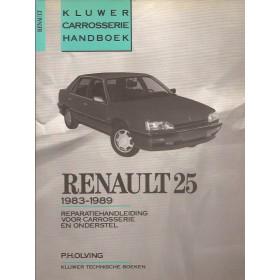 Renault 25 Kluwer carrosserie boek P. Olving  Benzine/Diesel Kluwer 83-89 ongebruikt   Nederlands