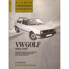 Volkswagen Golf Kluwer carrosserie boek P. Olving  Benzine/Diesel Kluwer 83-87 ongebruikt   Nederlands