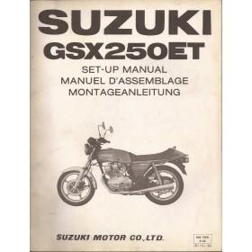 Suzuki GSX250ET Montagehandleiding   Benzine  80 met gebruikssporen   Engels