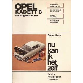Opel Kadett B Nu kan ik het zelf D. Korp  Benzine Peters 65-71 ongebruikt   Nederlands
