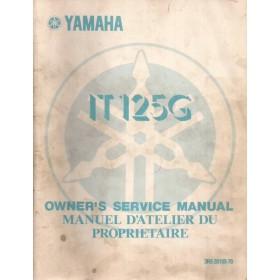 Yamaha IT125G Owners Service Manual   Benzine  79 met gebruikssporen   Engels